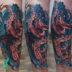 Octopus Inc by black-3G-raven