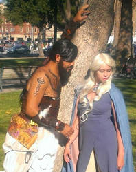 Danaerys and her khal by SuzyMofo