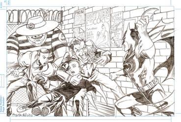 Batman vs Joker Commission by hany-khattab
