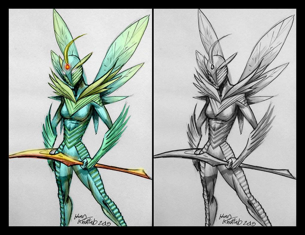 Grass Fairy Female warrior by hany-khattab