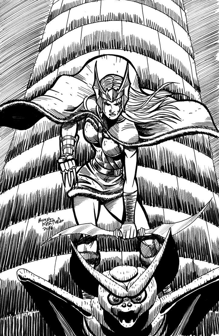 Viking Heroine by hany-khattab