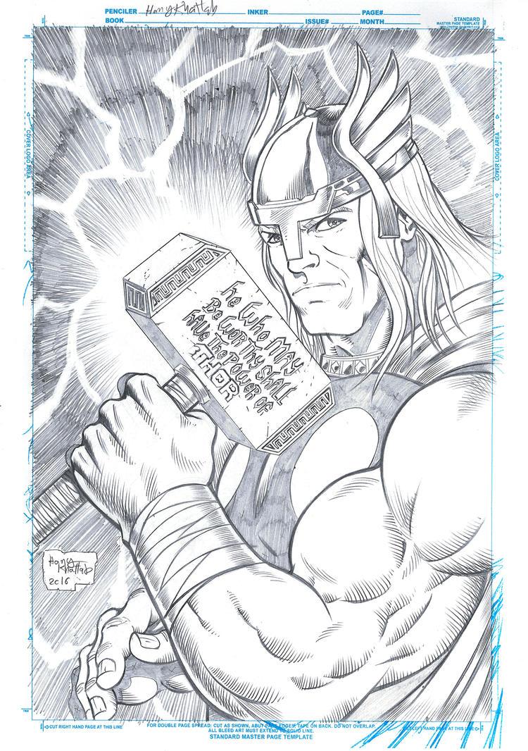 Thor Pinup by hany-khattab
