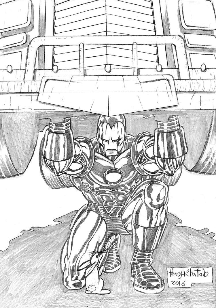 Iron Man Pinup by hany-khattab