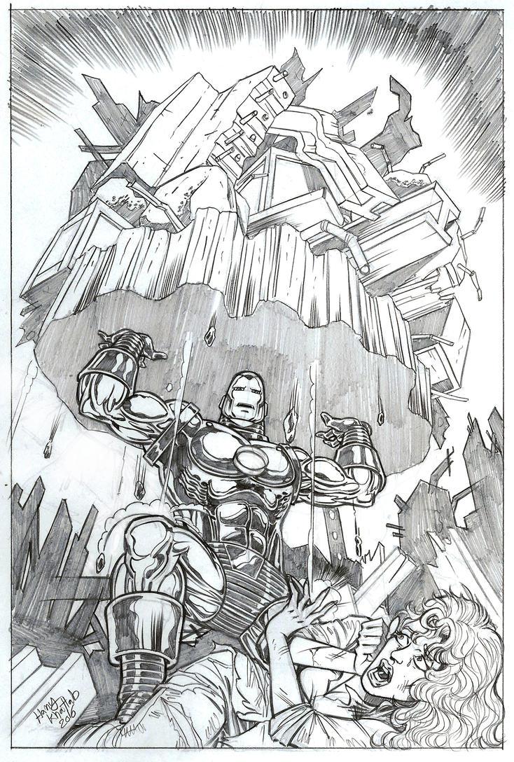 Iron Man Commission by hany-khattab