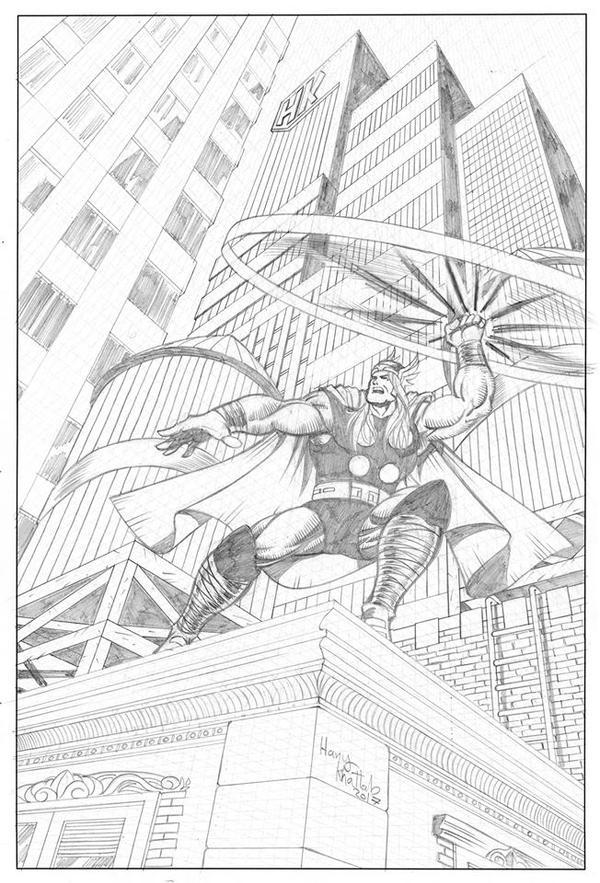 Thor Taking off by hany-khattab
