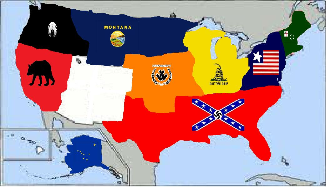 The Divided States Of America By MrWolfmanThomas On DeviantArt - Divided us map