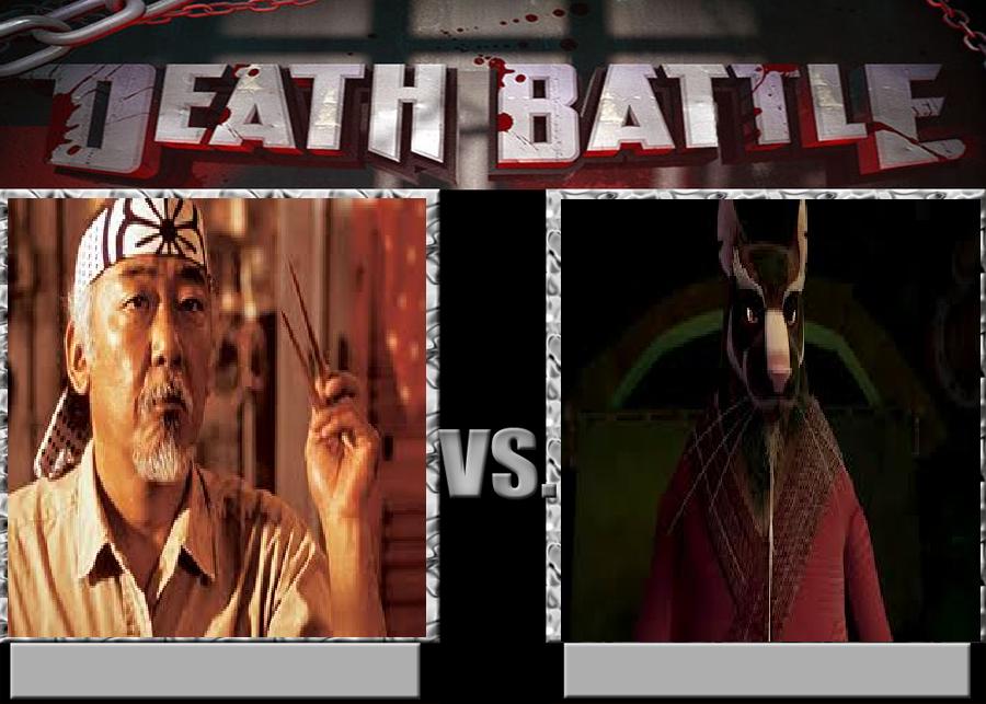 Deathbattle98: Mr. Miyagi vs Master Splinter by Mr-Wolfman-Thomas