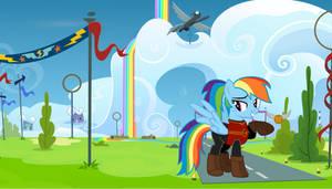 HP Crossover - Rainbow Dash by sirius-writer