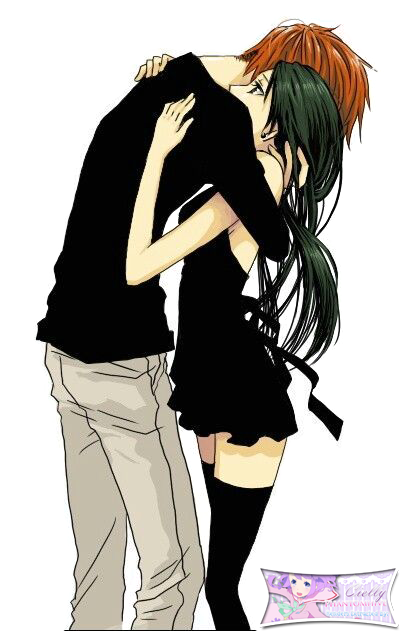 Anime Characters Hugging : Cute anime couple hugging extracted bycielly by