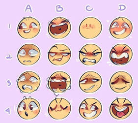 Expressions request by Primrose-Draws
