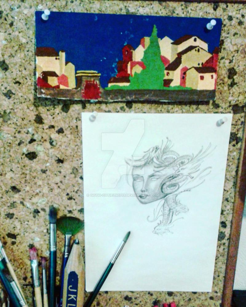 Medussa (unfinished) by goth-cutie290713