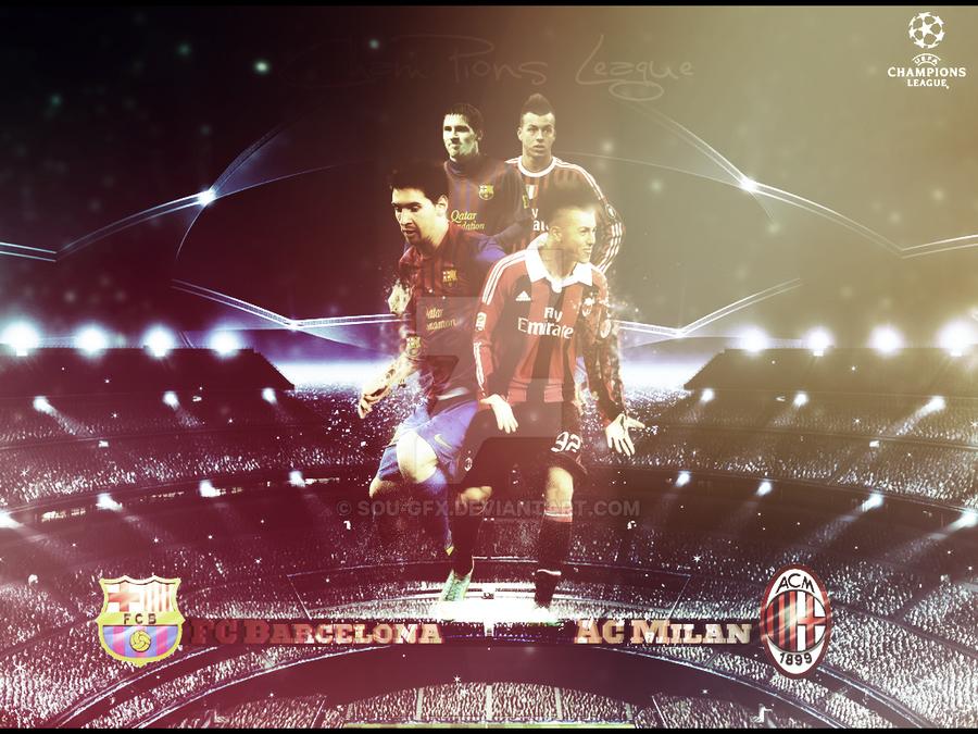 Barcelona Vs Ac Milan Champions League By Sou-Gfx On