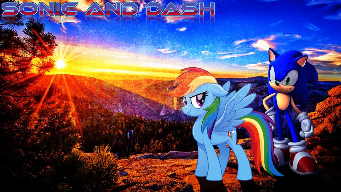 Sonic and Dash [Desktop Wallpaper] by Sandstorm-Arts