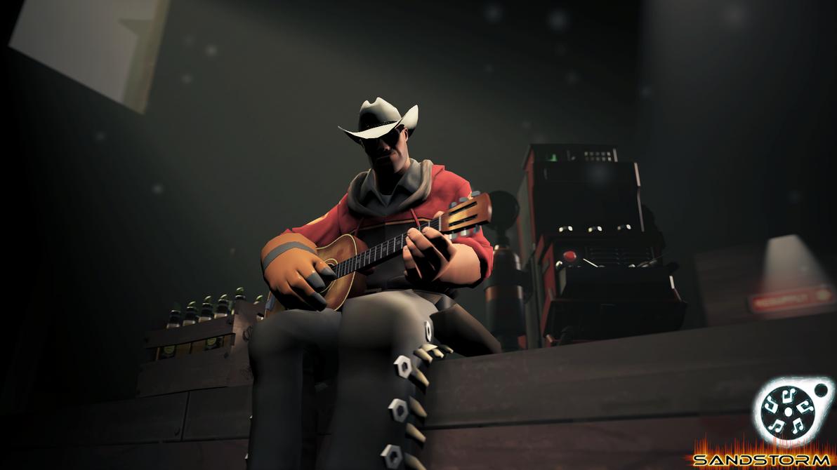 Acoustic Guitarist [SFM] by Sandstorm-Arts