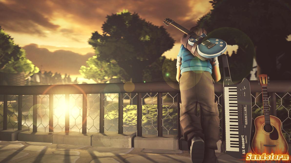 Admiring The Sunset [SFM] by Sandstorm-Arts