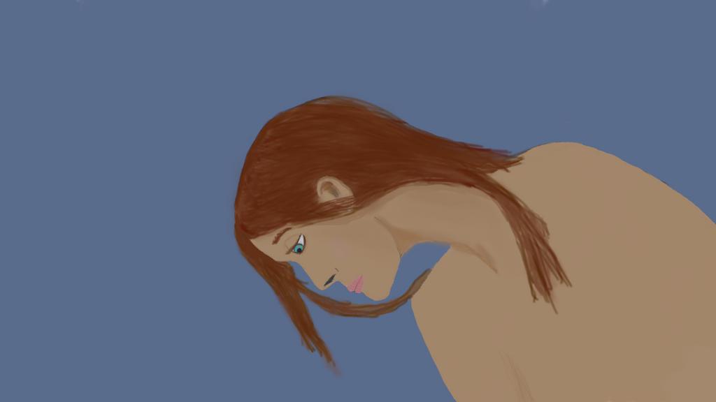 Sad Girl WIP by crazykidsteveo