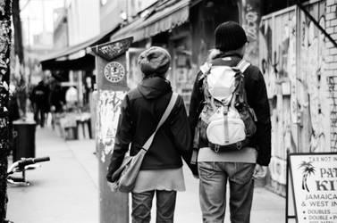 couple in Kensington by okiiee