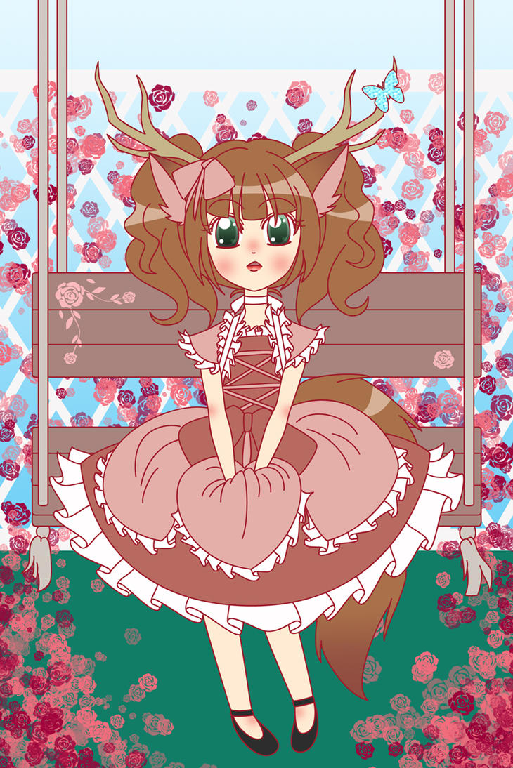Little Darling in the Garden by chiriku