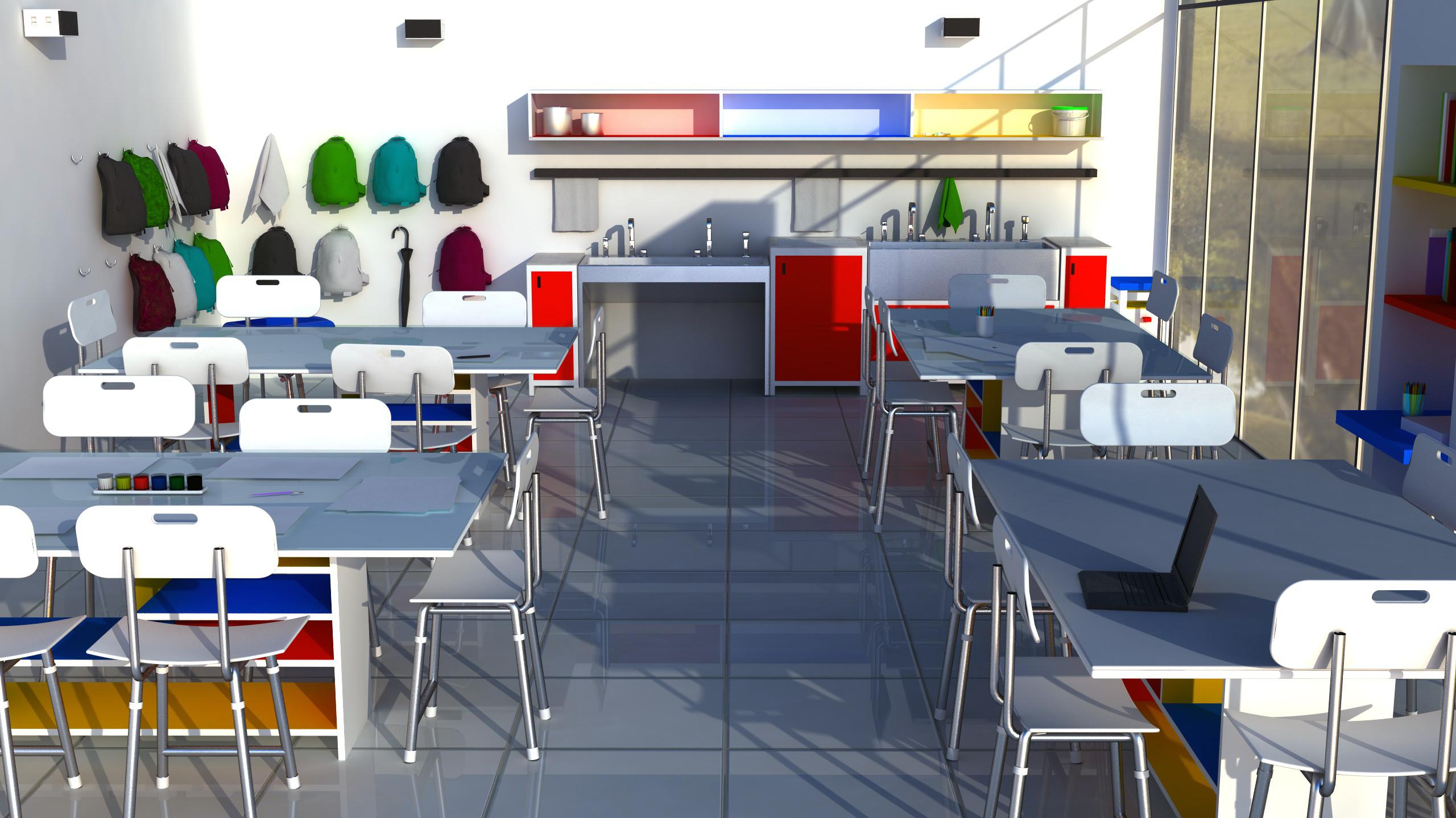 Classroom Design Concept ~ Art classroom concept by emelyjensen on deviantart
