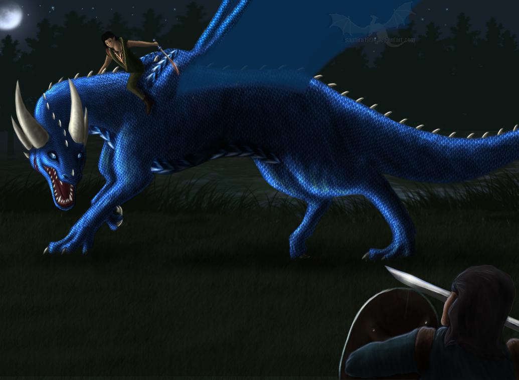 Moonlight Battle by Sapphiresenthiss