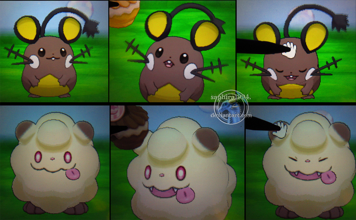Cuteness Overload Shiny Dedenne And Swirlix By