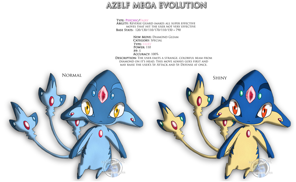 Azelf Mega Evolution By Sapphiresenthiss On Deviantart