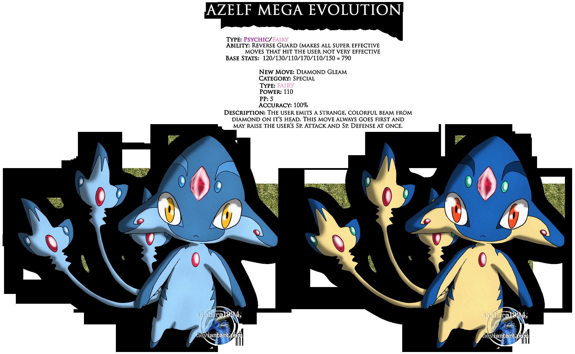 Azelf Mega Evolution By Sapphiresenthiss On Deviantart