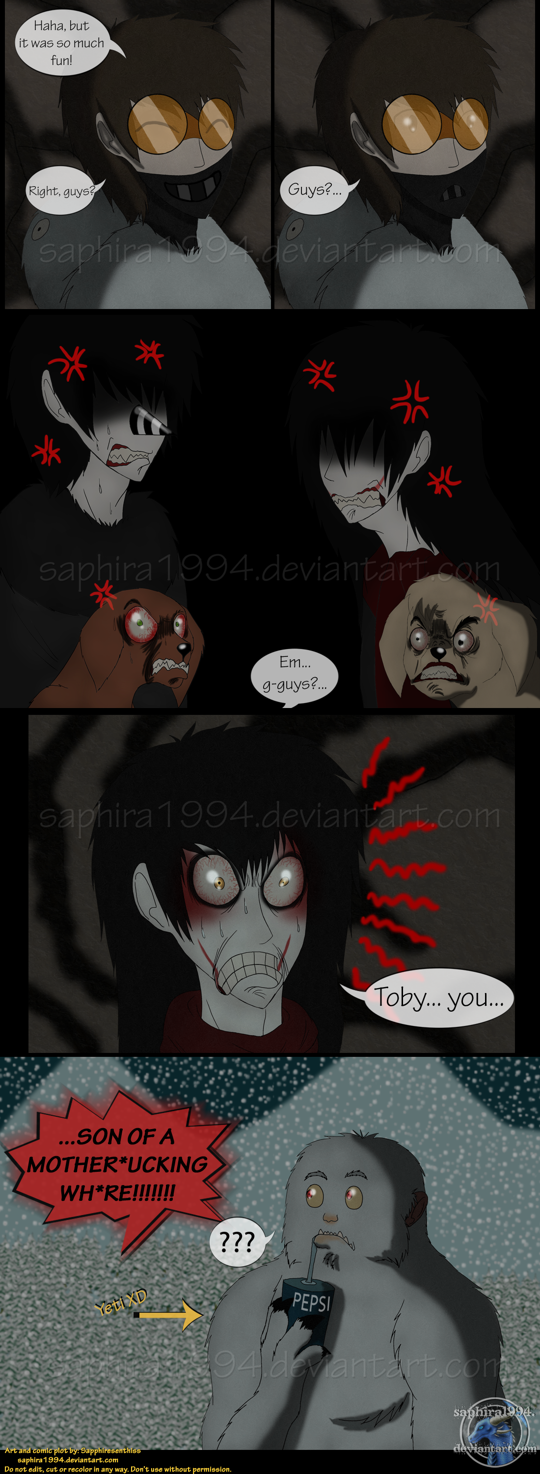 Adventures With Jeff The Killer - PAGE 96 by Sapphiresenthiss