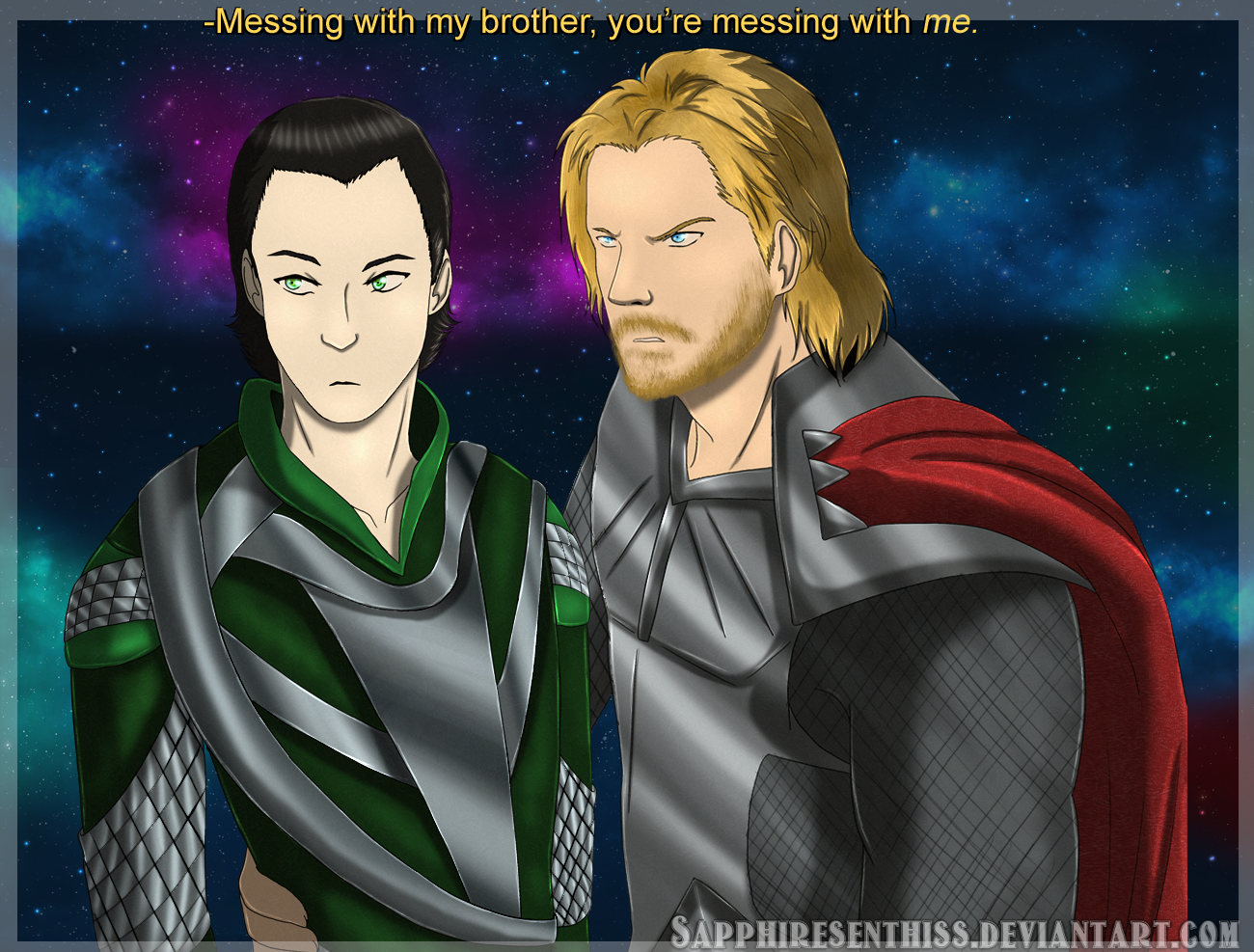 Thorki (Loki x Thor) by Sapphiresenthiss on DeviantArt