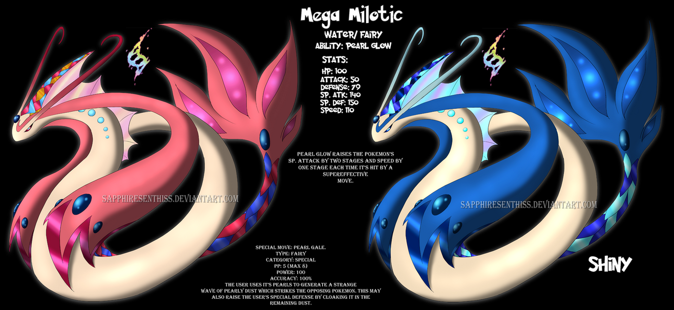 Mega Milotic Fan Made By Sapphiresenthiss On Deviantart