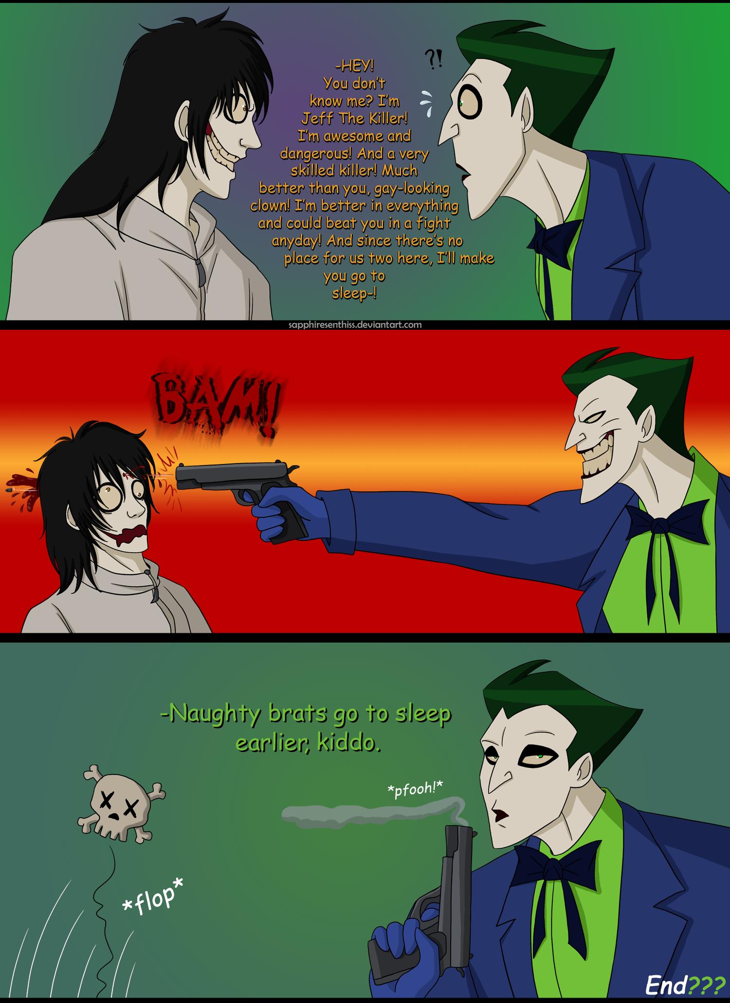 The Joker VS Jeff The Killer (RANT IN DESCRIPTION) by