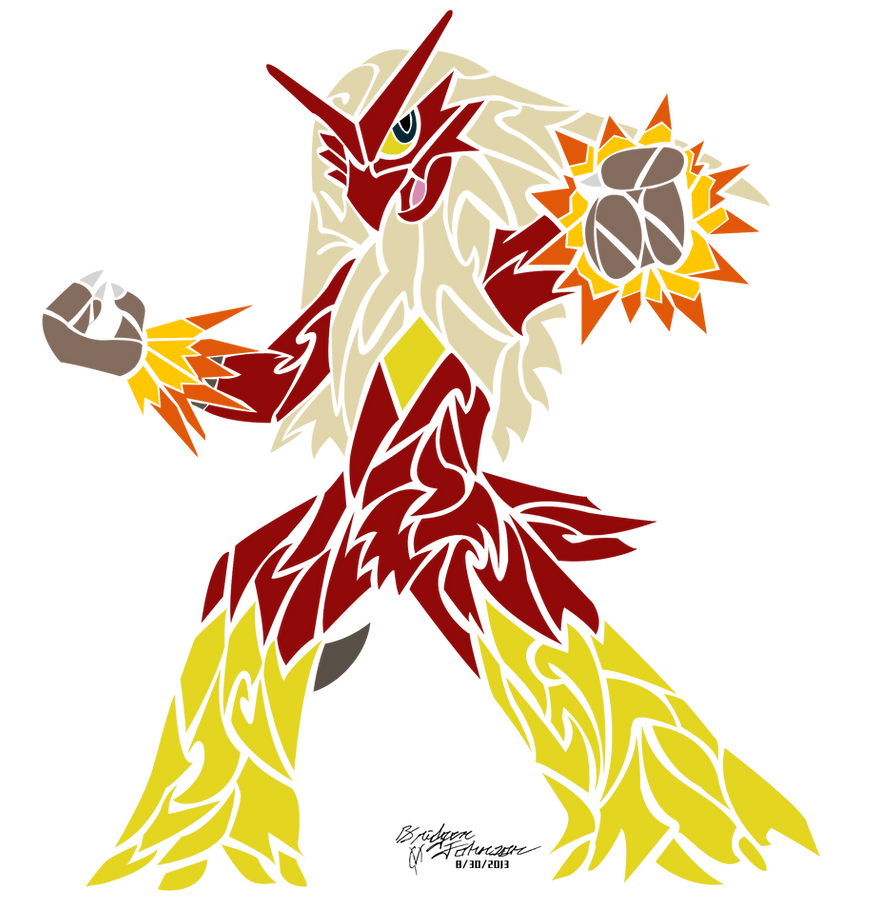 Tribal Blaziken by Pwnisim