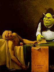 Painting with Shrek