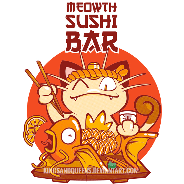Meowth Sushi Bar by KingsandQueens