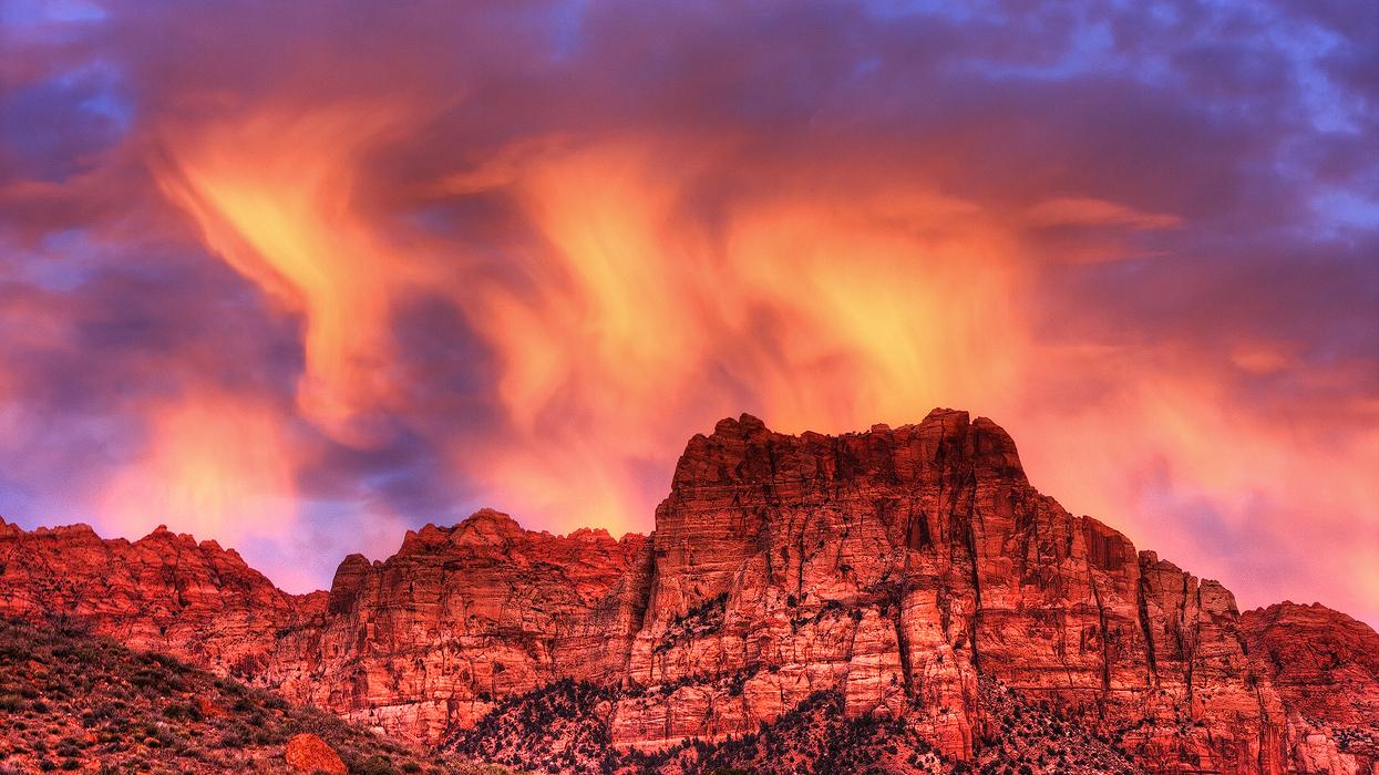 Fiery Mountain by ernieleo