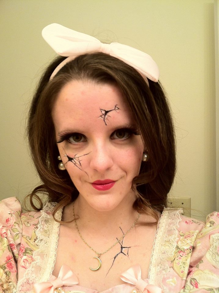 Broken Doll Halloween Costume Cosplay Makeup by Reyndrys