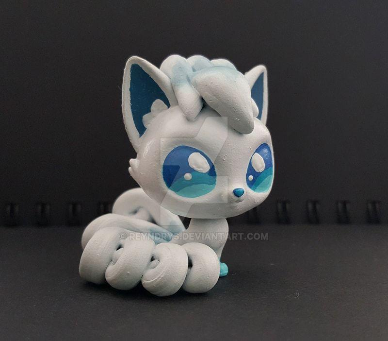 Custom Littlest Pet Shop Pokemon Alolan Vulpix by Reyndrys