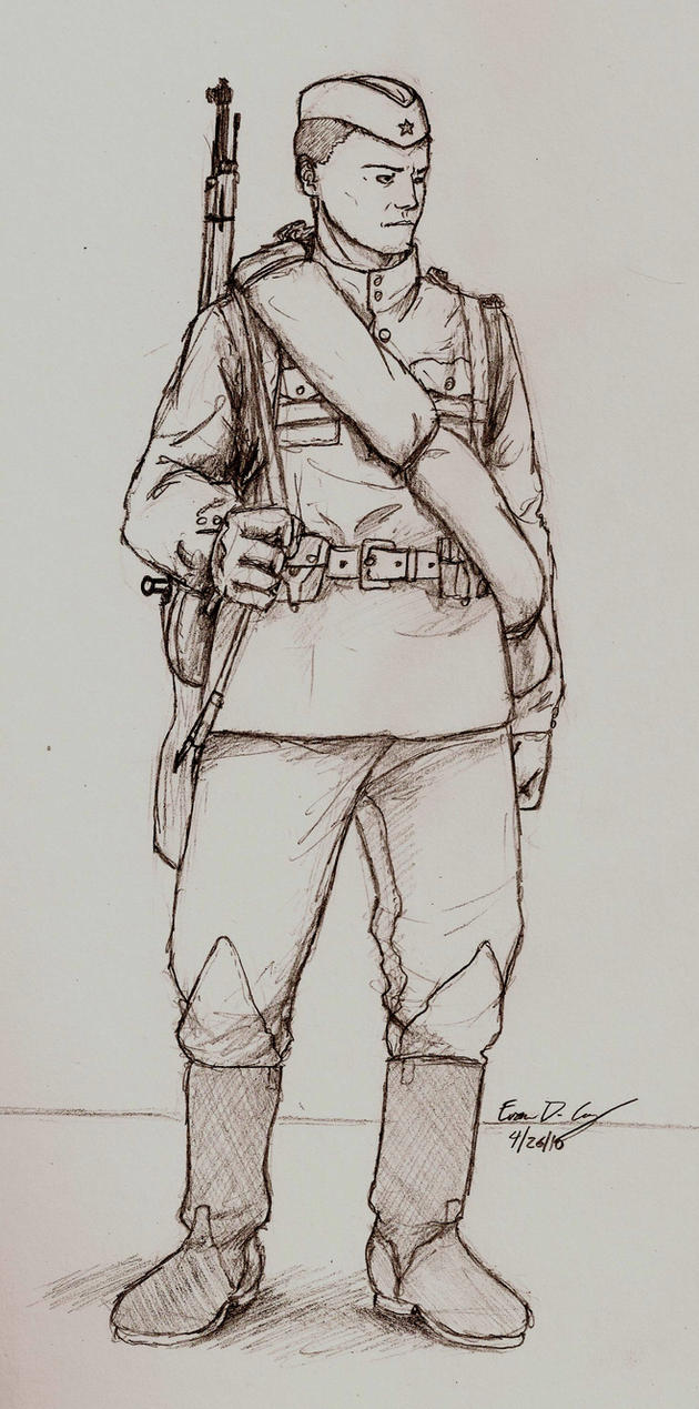WWII Russian soldier by warman707 on DeviantArt