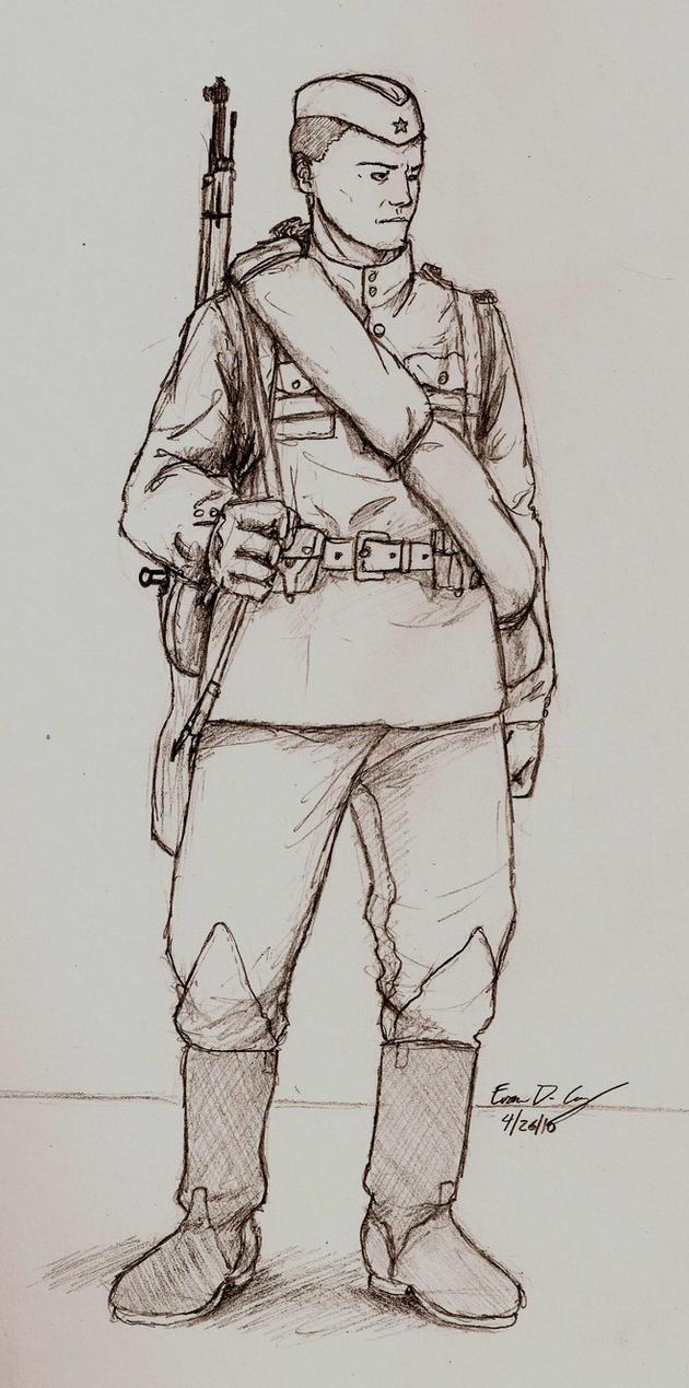 WWII Russian soldier by warman707 on DeviantArt