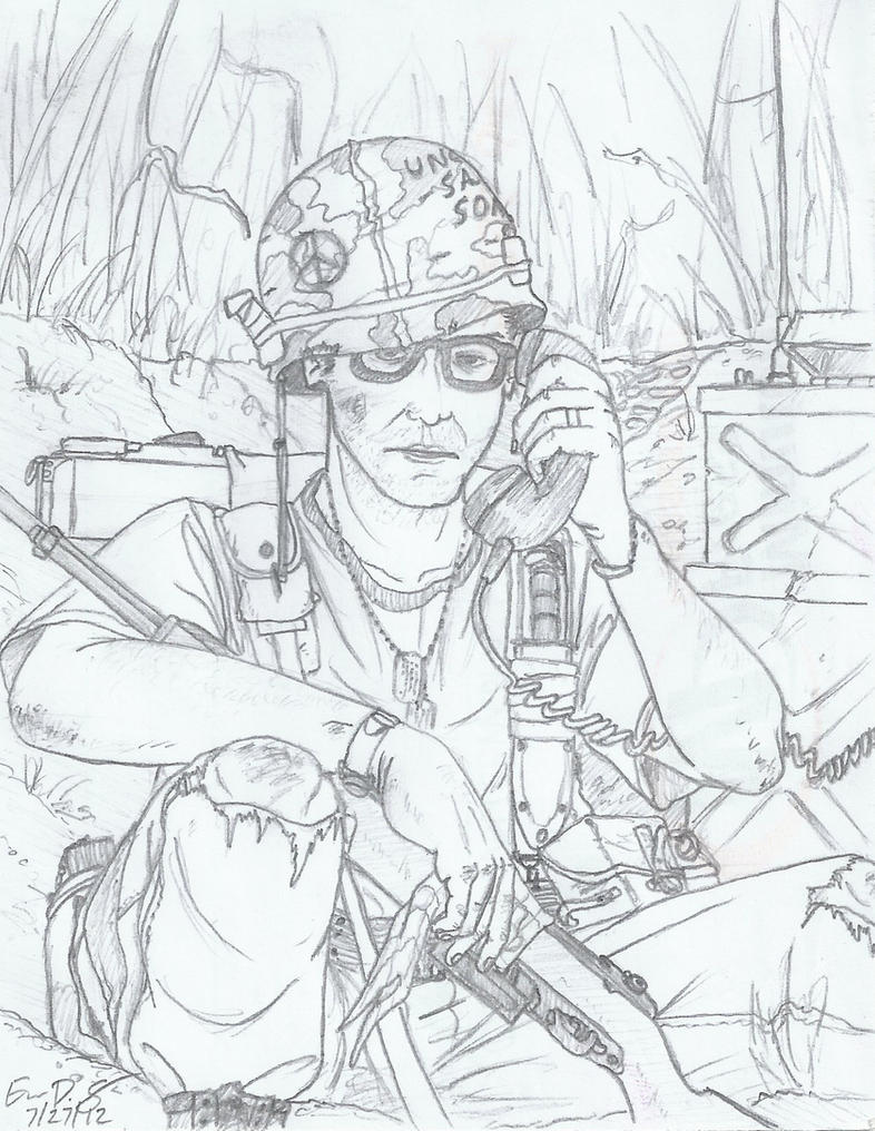 Vietnam us soldier by warman707 on deviantart for Vietnam coloring pages