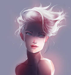 white hair girl by Norbu341