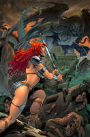 Red Sonja colors by pcsiqueira