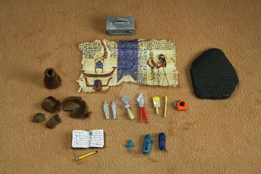1:12 Scale Miniature Archeologist Tool Kit by BeautifulEarthStudio