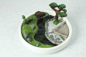 Miniature Meditations Polymer Clay Garden by BeautifulEarthStudio