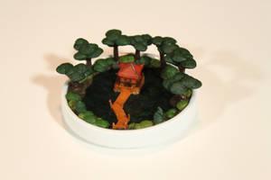 Miniature Meditations: Pavillion on Emerald Lake by BeautifulEarthStudio
