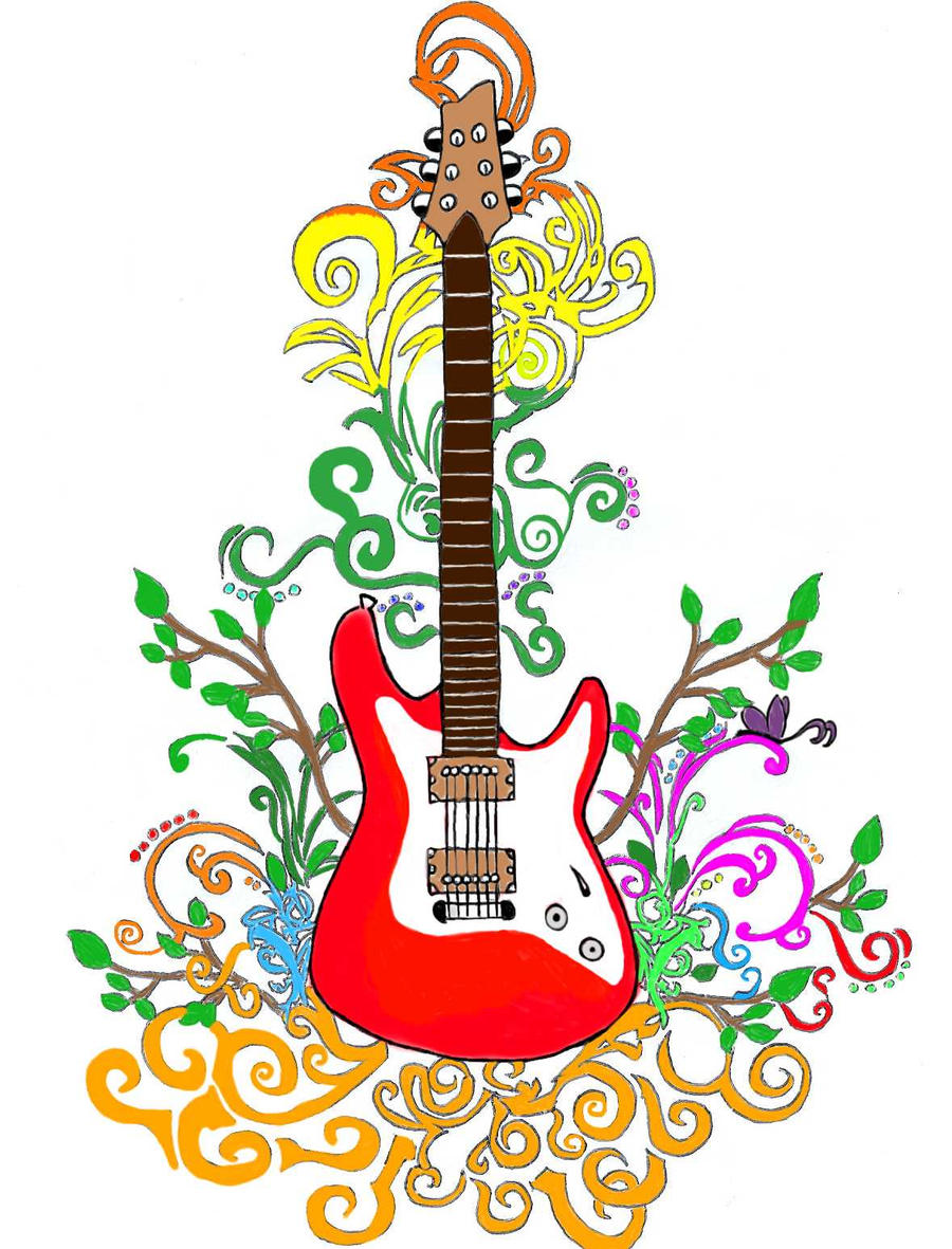 Guitar Design With Colour By CJG9774