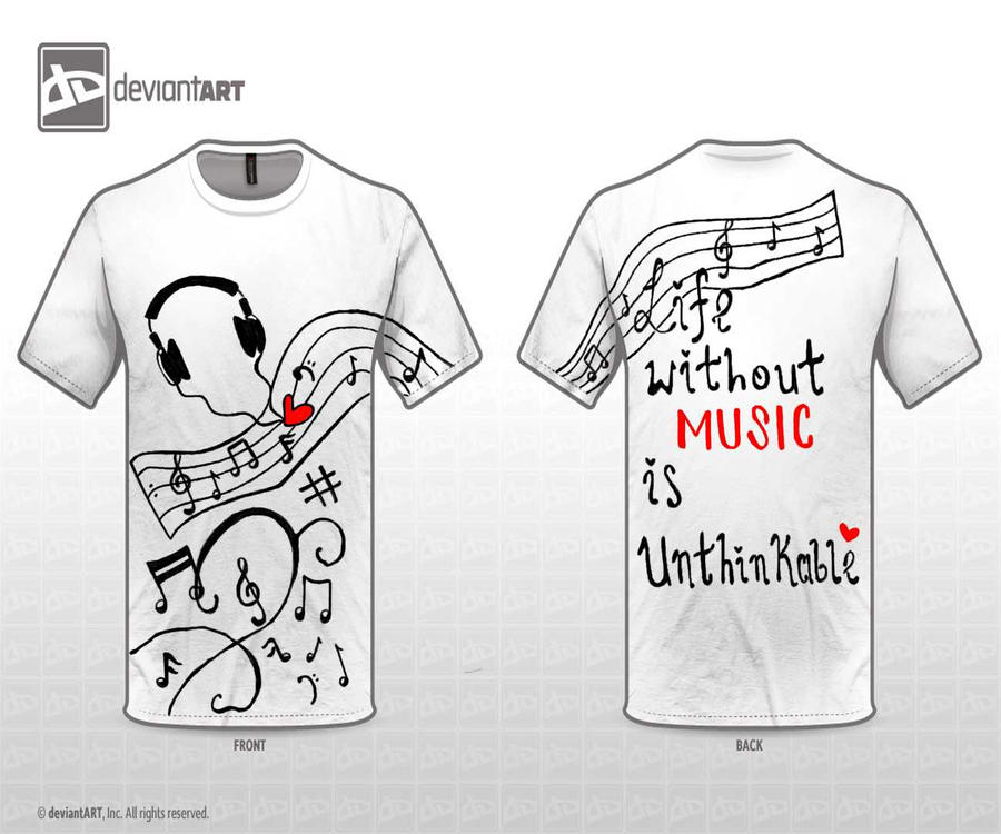 Music note t shirt design by cjg9774 on deviantart Music shirt design ideas