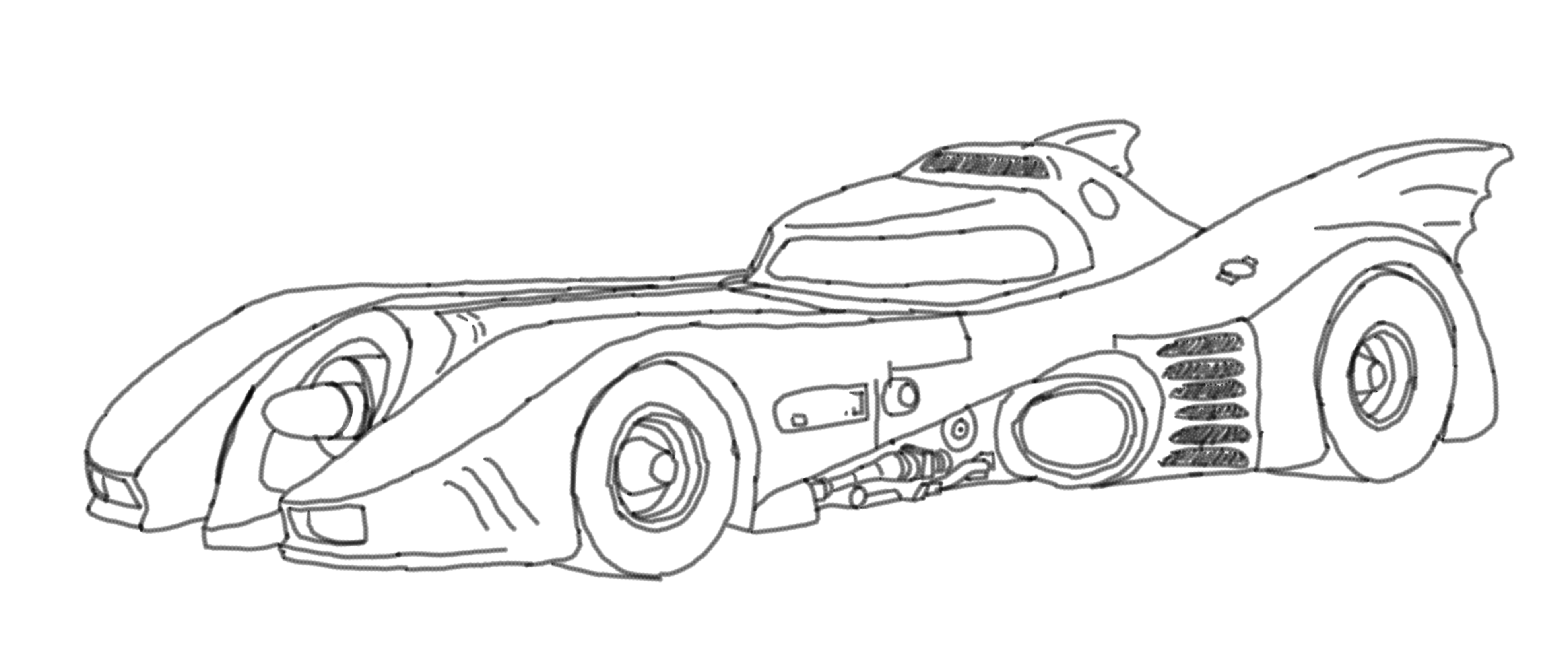 Batmobile (Line Art) By Music-S-Brush On DeviantArt