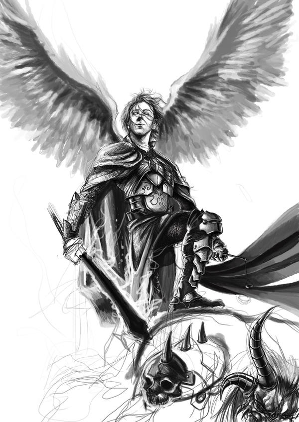 St. Michael Archangel Drawing