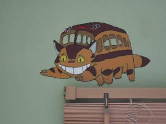 Totoro Bedroom pt.2 Catbus by Sakurakate